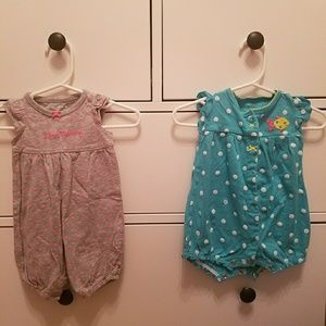 3 Month girls rompers